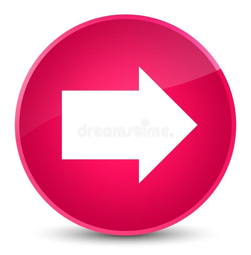 Next Arrow Icon Elegant Pink Round Button Stock Illustration