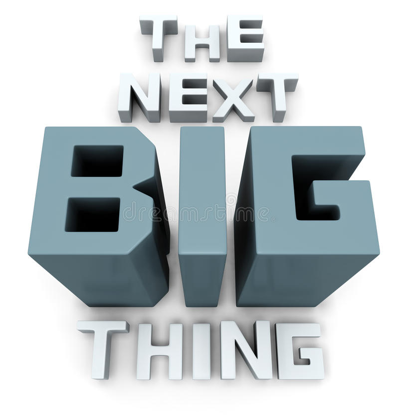The next big thing coming soon. Announcement 3d illustration vector illustration