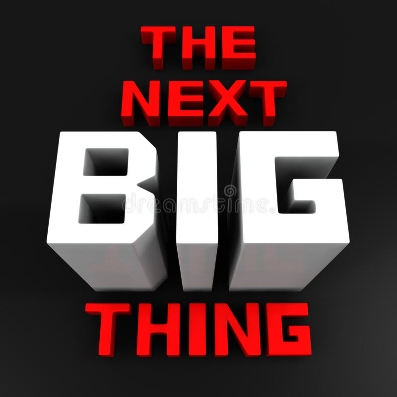 The next big thing coming soon. Announcement 3d illustration stock illustration