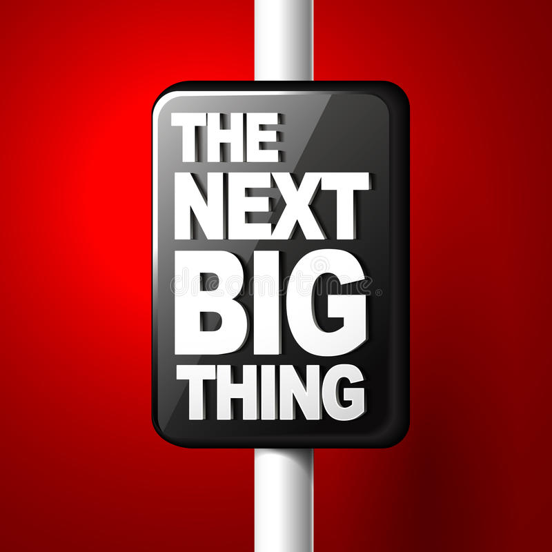 The next big thing coming soon announcement 3d illustration. Red background vector illustration