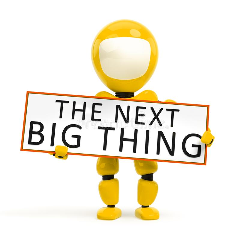The next big thing robot. 3d illustration of the next big thing robot vector illustration