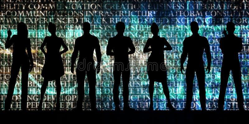 Next Generation arbetskraft av framtiden vektor illustrationer
