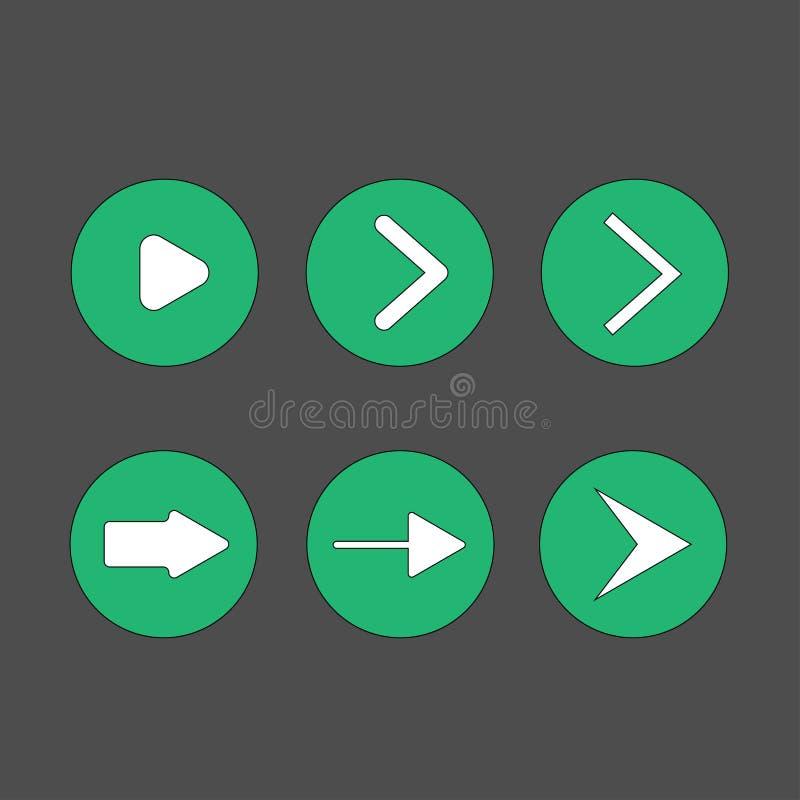 Next icon vector stock illustration