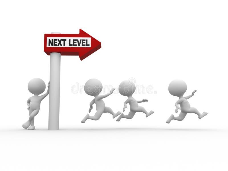 Next level stock illustration
