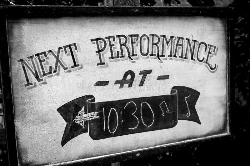 Next Performance royalty free stock photography
