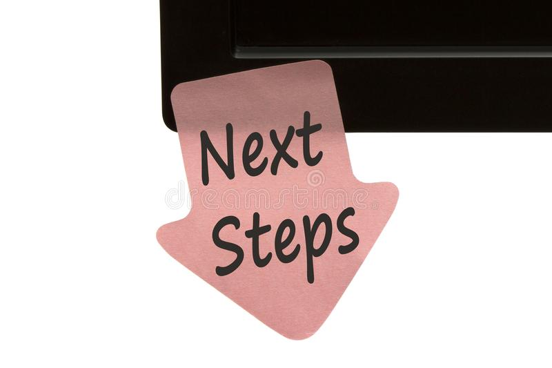 Next Steps written on note concept royalty free stock image