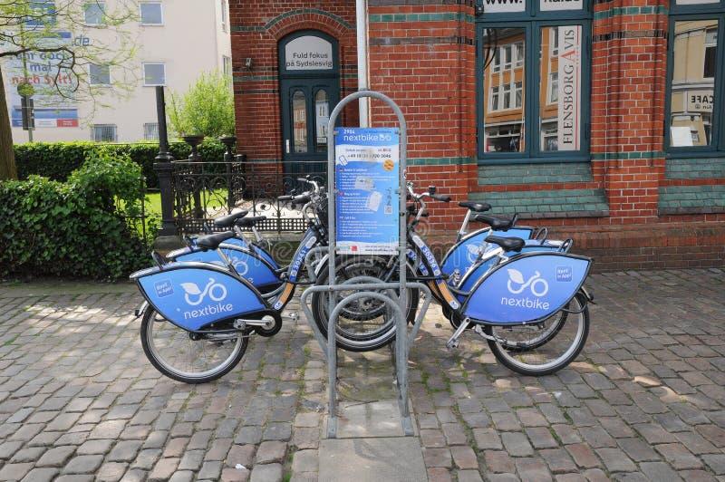 NEXTBIKE czynsz rower APP obraz royalty free
