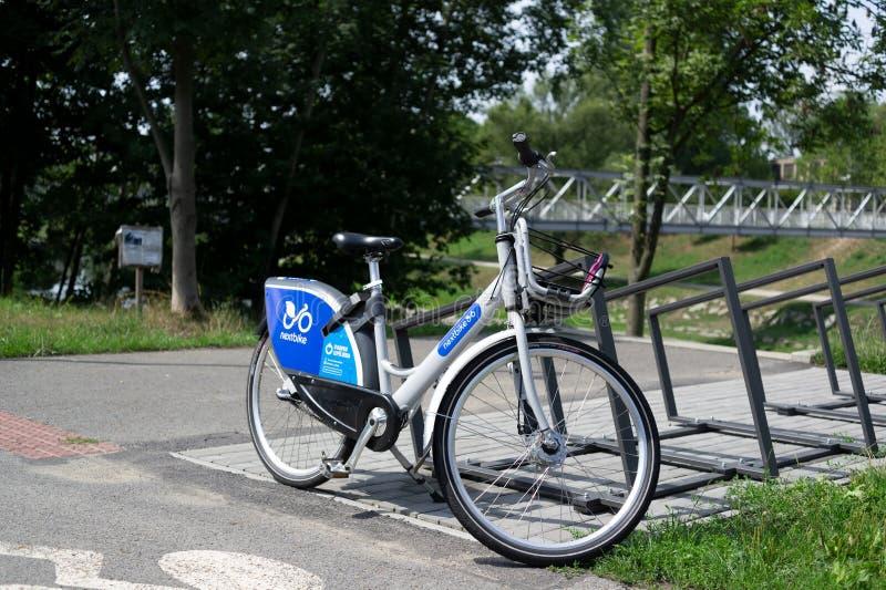 Nextbike rower dla udzielenia, bikesharing/ obraz royalty free
