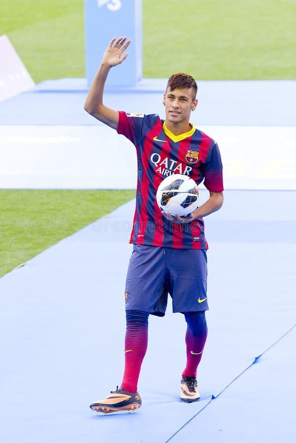 Neymar -巴塞罗那足球俱乐部 免版税库存照片
