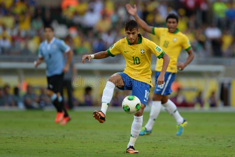 Neymar. BELO HORIZONTE - JUNE 26: Neymar during game between Brazil vs Uruguay during Confederation Cup, in the stadium of the Mineirao on june 26, 2013 in Belo