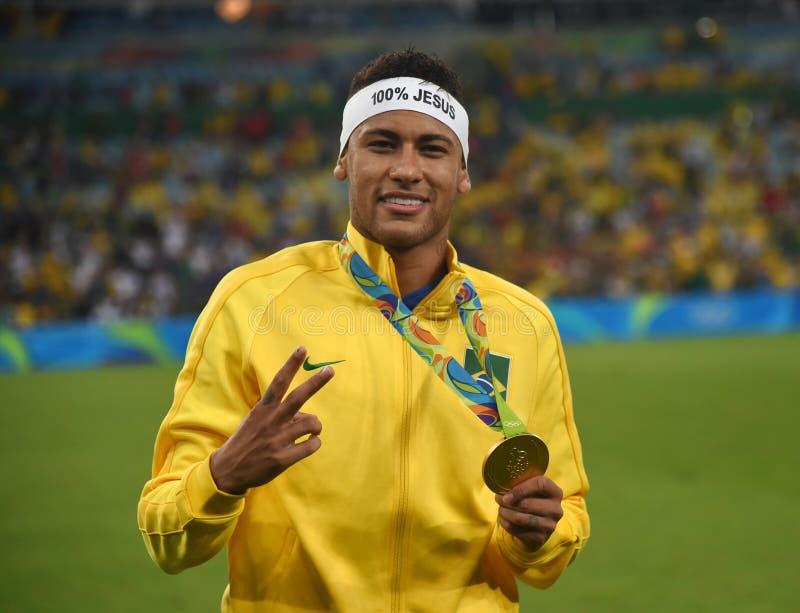 Neymar  Brazilian national football. Stock Photos of the Brazilian national football team Neymar stock photo