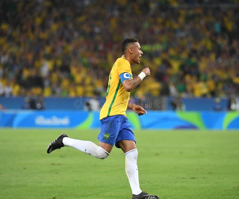 Neymar  Brazilian national football. Stock Photos of the Brazilian national football team Neymar royalty free stock photos