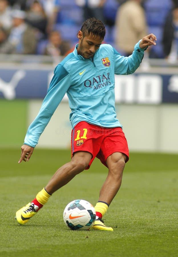 Neymar da Silva av FCet Barcelona arkivbilder