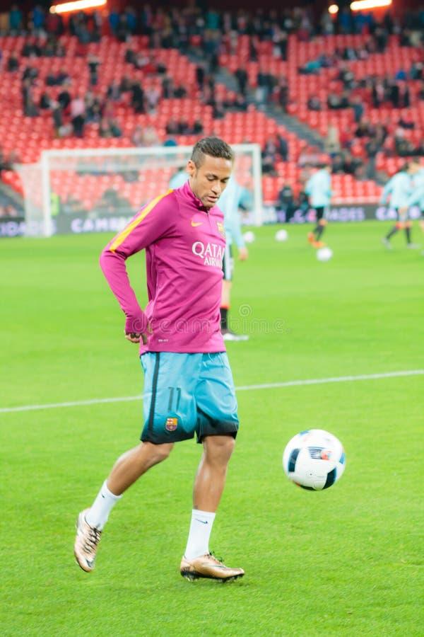 Neymar da Silva Santos Junior royaltyfri foto