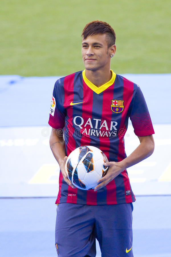 Neymar do FC Barcelona fotografia de stock royalty free