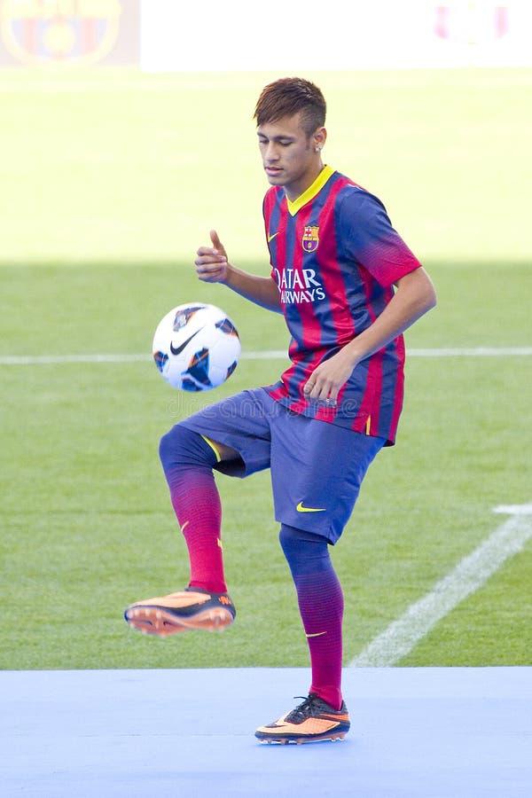 Neymar do FC Barcelona fotografia de stock