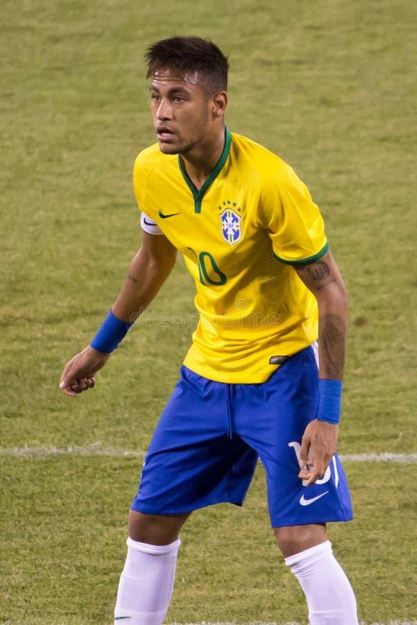 Neymar el Brasil imagen de archivo libre de regalías