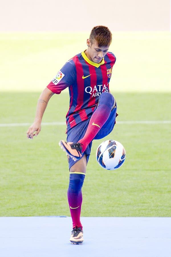 Neymar - FC Barcelona fotografía de archivo libre de regalías