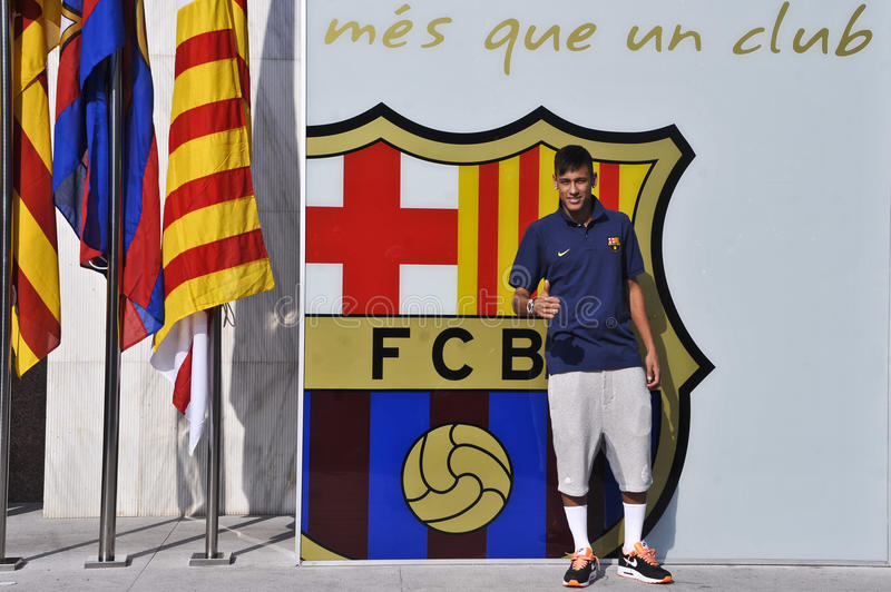 Neymar jr Oficjalna prezentacja jako FC Barcelona gracz obraz stock