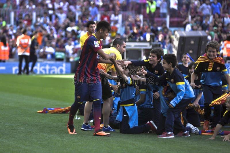 Neymar jr Oficjalna prezentacja jako FC Barcelona gracz zdjęcia stock