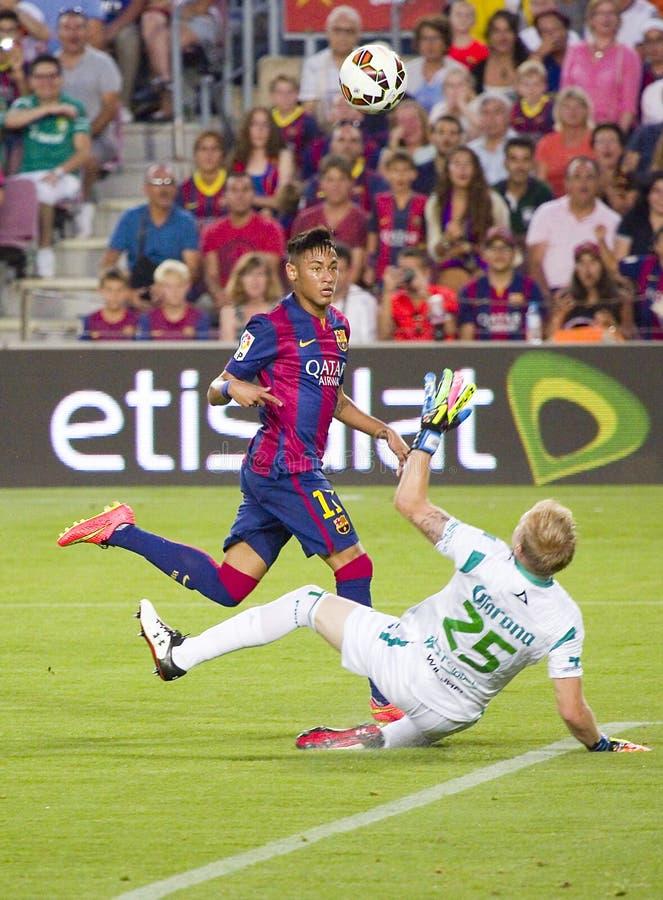 Neymar målställning royaltyfri fotografi