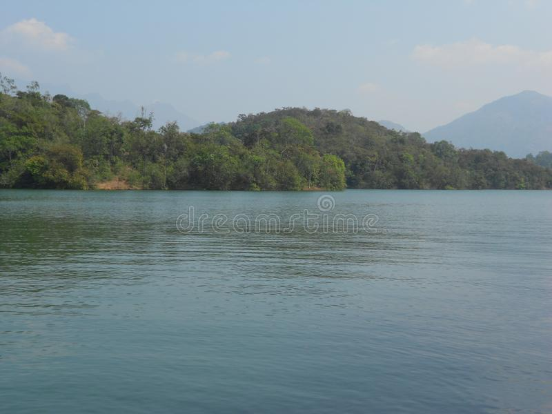Neyyar, blisko Thiruvananthapuram, Kerala zdjęcie royalty free