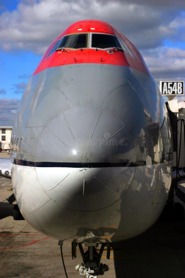 Nez d'avion à réaction image stock