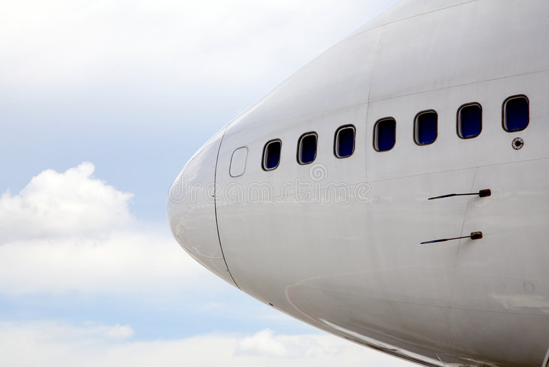 Nez d'avion photo libre de droits