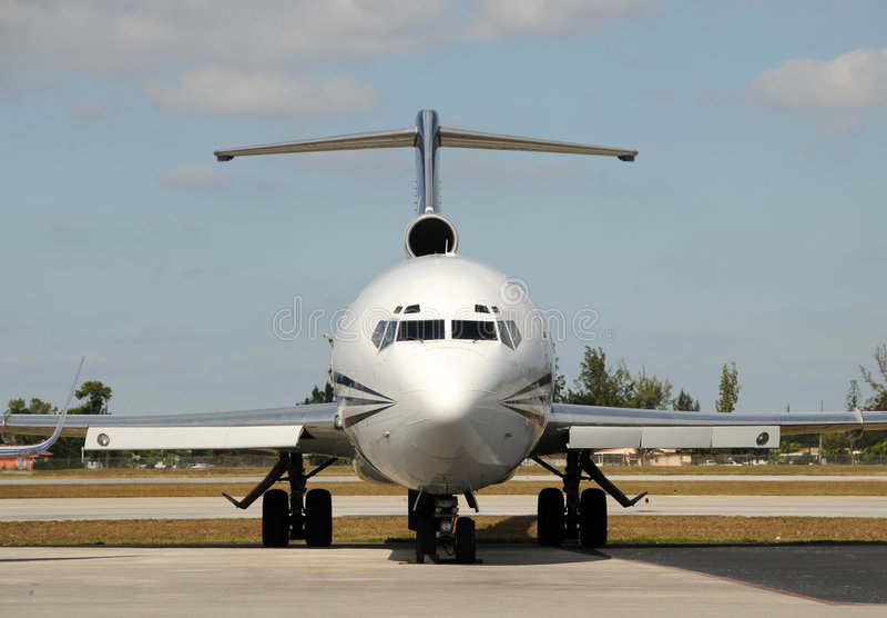 Nez d'avion d'avion à réaction images stock