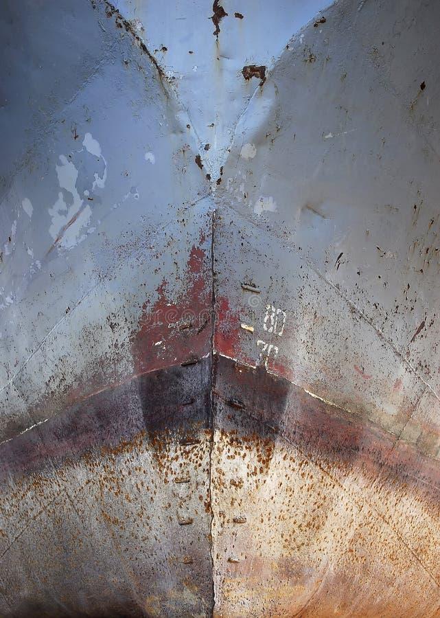 Nez de rouille de bateau photo libre de droits