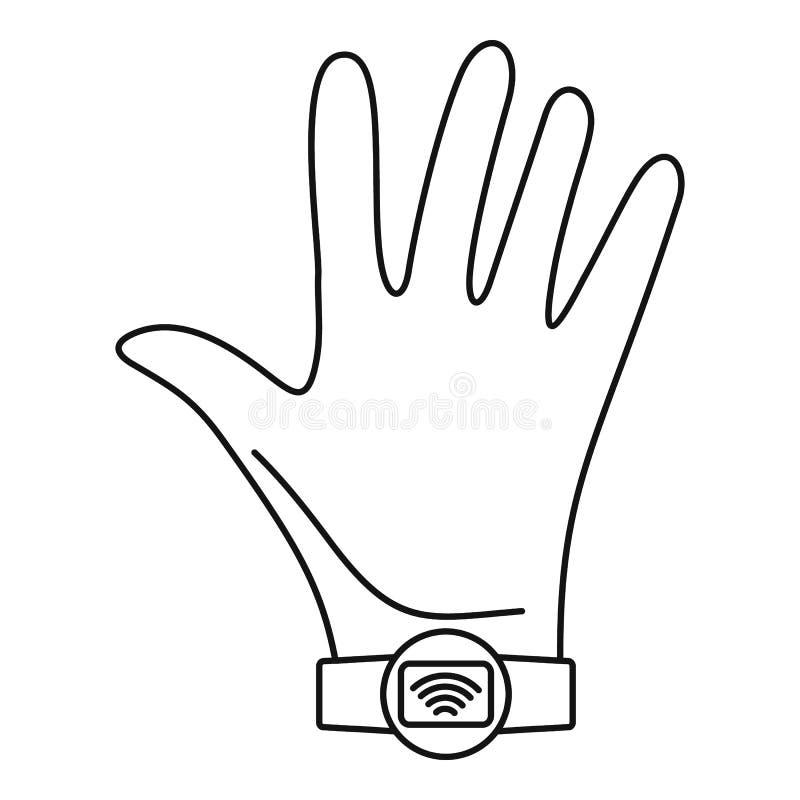 Nfc手腕带象,概述样式 皇族释放例证