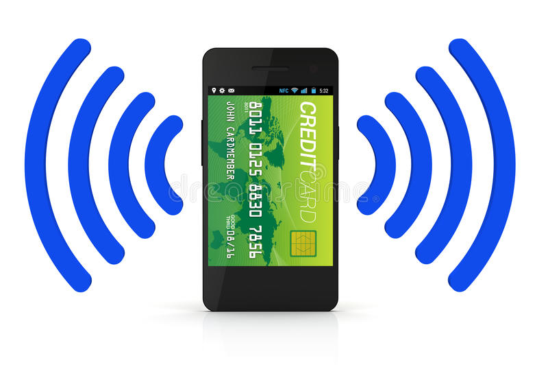 Download NFC Digital Wallet stock illustration. Image of phone - 26929226
