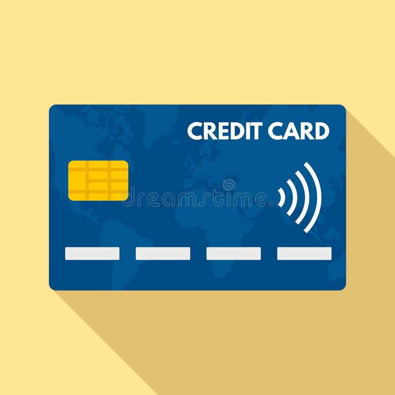Nfc-Kreditkarteikone, flache Art vektor abbildung