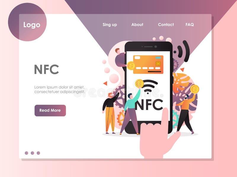 NFC strony internetowej lądowania strony projekta wektorowy szablon fotografia stock