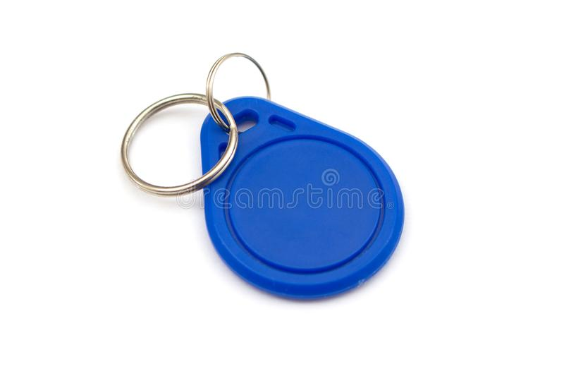 NFC tag. A NFC tag against white background stock photos