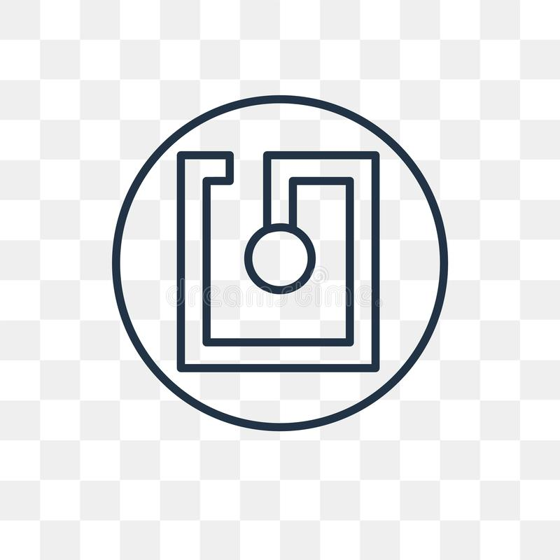 Nfc wektorowa ikona odizolowywająca na przejrzystym tle, liniowy Nfc t ilustracja wektor