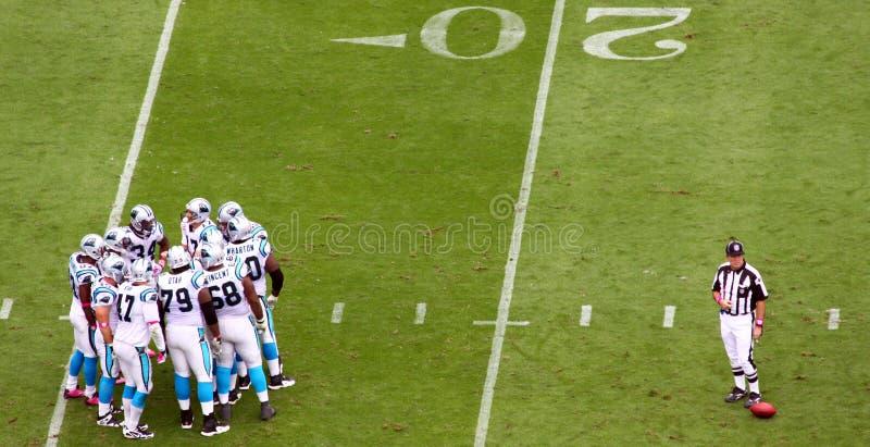 NFL - a aproximação e a referência foto de stock