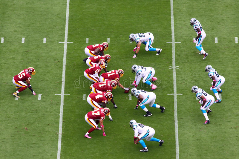 NFL - Betriebsbereit! Set! stockfoto