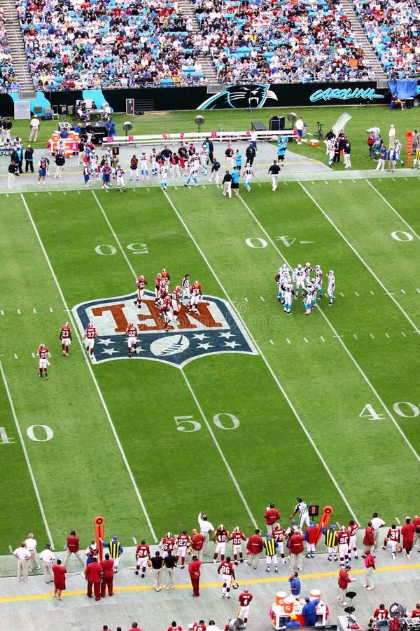 NFL die - de wirwar breekt royalty-vrije stock afbeeldingen