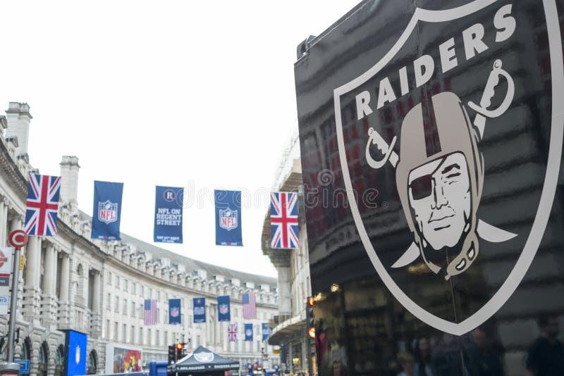 NFL en Regent Street fotos de archivo