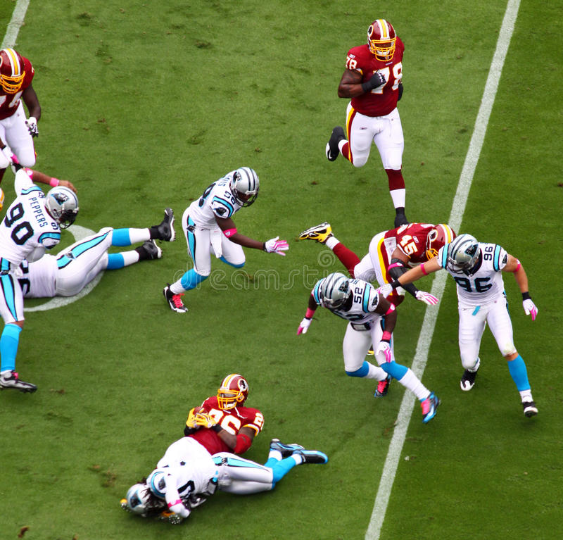 Download NFL - end of a play editorial stock image. Image of field - 12798319