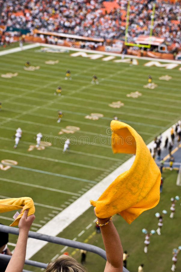 NFL Football Game Kickoff royalty free stock images