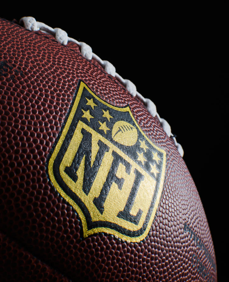 NFL. HILVERSUM, NETHERLANDS - JANUARY 18, 2014: The National Football League (NFL) is a professional American football league that constitutes one of the four stock images