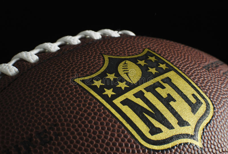 NFL. HILVERSUM, NETHERLANDS - JANUARY 18, 2014: The National Football League (NFL) is a professional American football league that constitutes one of the four royalty free stock images