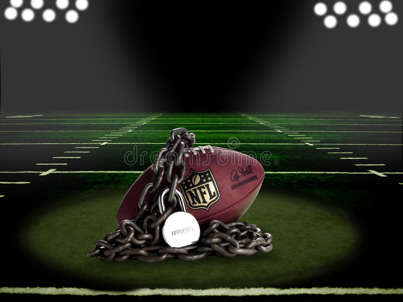 NFL Lockout - On Field Comp royalty free stock image