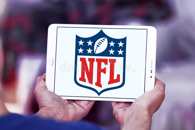 Nfl, logo de Ligue Nationale de Football Américain photo libre de droits