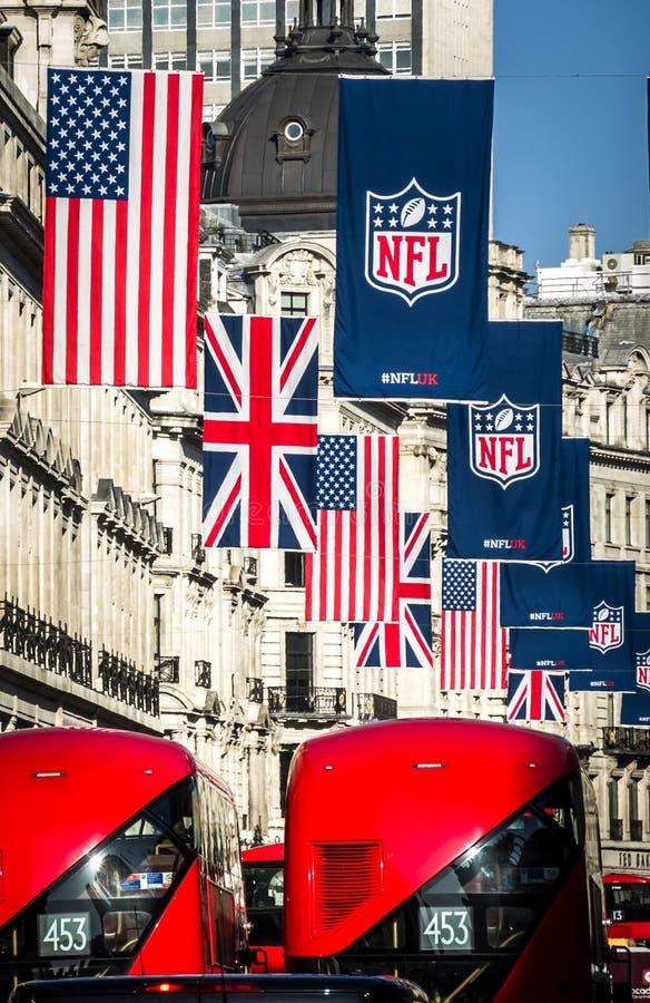 Nfl in London lizenzfreies stockbild