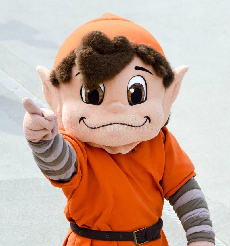 NFL maskotki punkt elfa cleveland browns obrazy stock