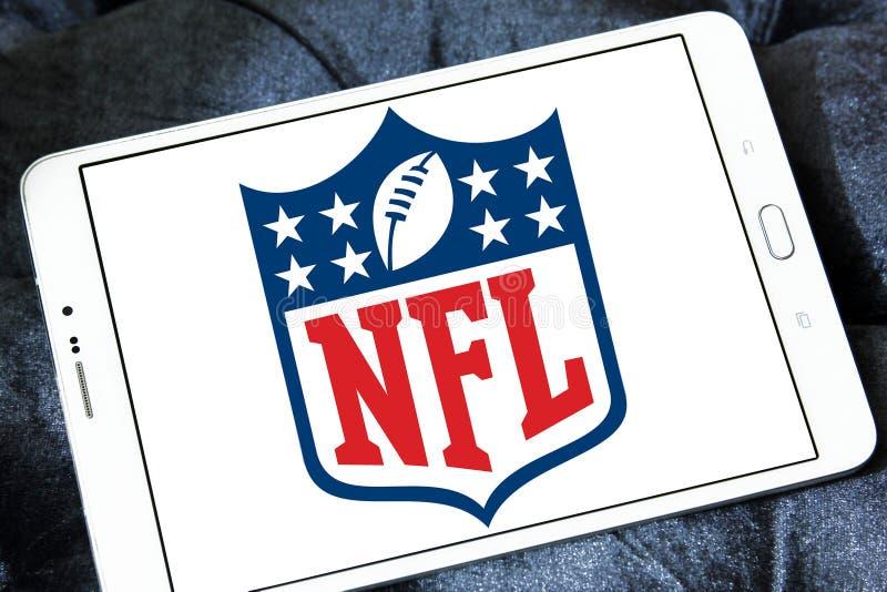 Nfl, National Football League logo. Logo of american nfl, National Football League, on samsung tablet royalty free stock photo