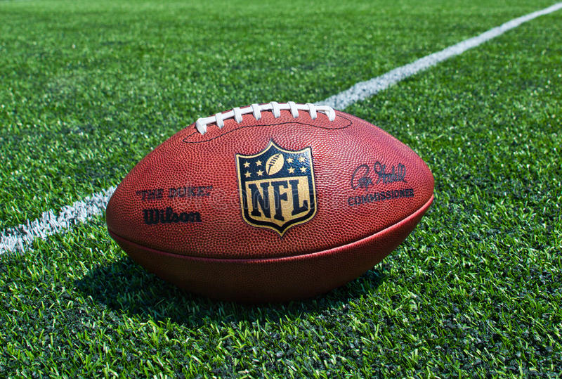 NFL official Ball stock photos